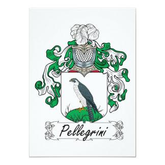 Pellegrini Family Crest 5x7 Paper Invitation Card