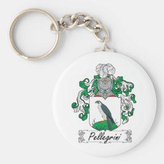 Pellegrini Family Crest Basic Round Button Keychain