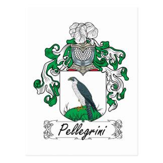 Pellegrini Family Crest Postcard