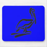 Pellican Bird Abstract Outline Mouse Pads