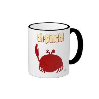 Pellizco rojo sonriente del cangrejo oh taza de dos colores