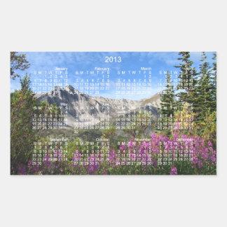 Pelly Mountain Vista; 2013 Calendar Rectangular Sticker