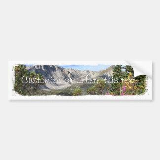 Pelly Mountain Vista; Customizable Car Bumper Sticker