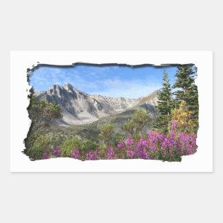 Pelly Mountain Vista Rectangular Sticker