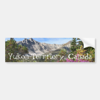 Pelly Mountain Vista; Yukon Territory Souvenir Car Bumper Sticker
