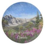 Pelly Mountain Vista; Yukon Territory Souvenir Plates