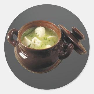 Pelmeni Soup Classic Round Sticker
