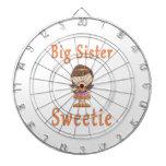 Pelo de Brown del Sweetie de la hermana grande Tablero De Dardos