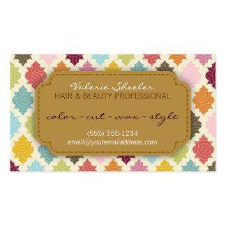 Pelo de Quatrefoil y tarjeta coloridos de la cita  Plantillas De Tarjeta De Negocio