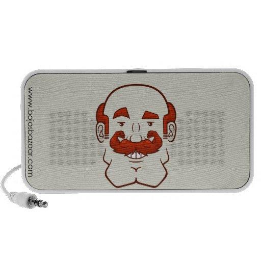 Pelo de Strongstache (Balding, rojo) iPod Altavoz