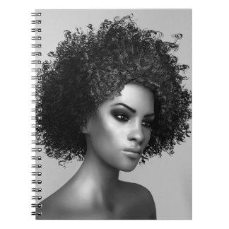 Pelo del Afro Spiral Notebooks