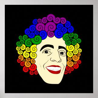 Pelo del arco iris de LGBT Póster