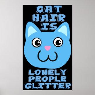 Pelo del gato póster