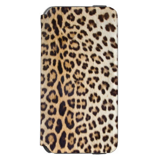 Pelo del leopardo funda cartera para iPhone 6 watson