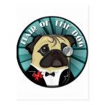 Pelo del merch del perro tarjeta postal