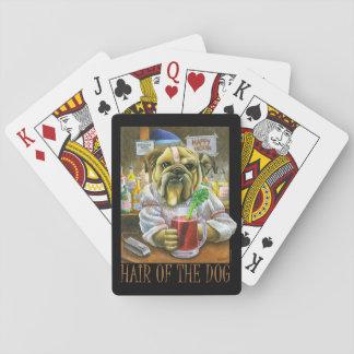 Pelo del perro baraja de póquer
