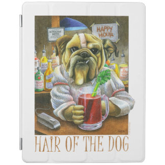 Pelo del perro cubierta de iPad