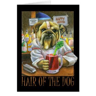 Pelo del perro tarjeta de felicitación