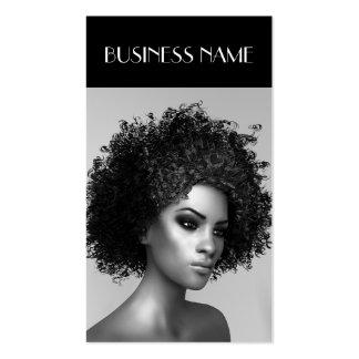 Pelo elegante del Afro de la moda Tarjetas De Visita