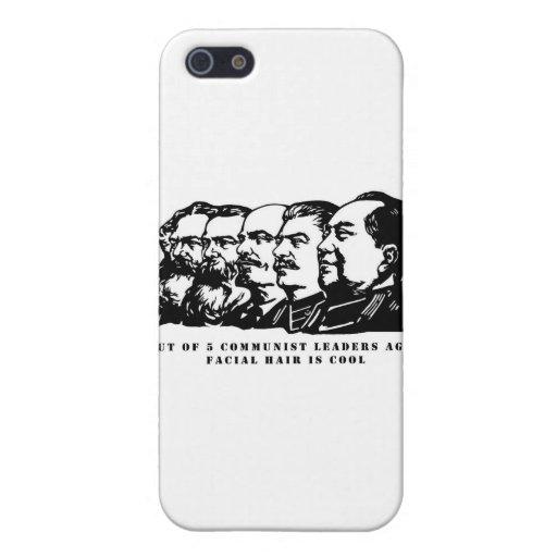 Pelo facial del comunismo iPhone 5 carcasa