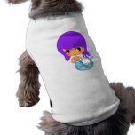 pelo mágico de la púrpura de la sirena del chibi ropa de perros