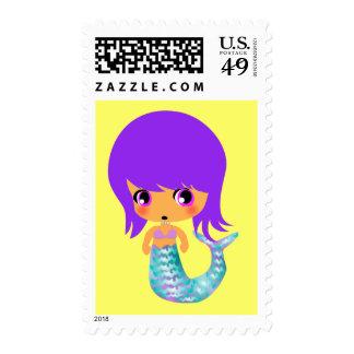 pelo mágico de la púrpura de la sirena del chibi envio