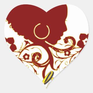 Pelo natural: Afrolicious Pegatina En Forma De Corazón
