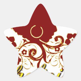 Pelo natural: Afrolicious Pegatina En Forma De Estrella