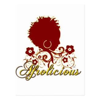 Pelo natural: Afrolicious Tarjeta Postal