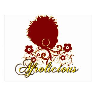 Pelo natural: Afrolicious Tarjetas Postales