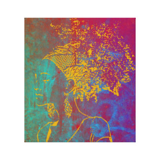 Pelo natural Gurl Impresión En Lona Estirada