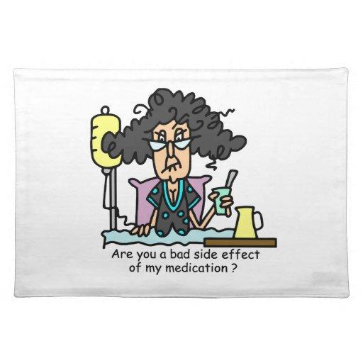 Pelo oscuro del efecto secundario de la medicación manteles