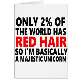 Pelo rojo divertido tarjeta de felicitación