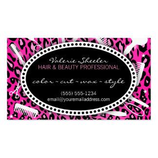 Pelo rosado del estampado leopardo y descuento de
