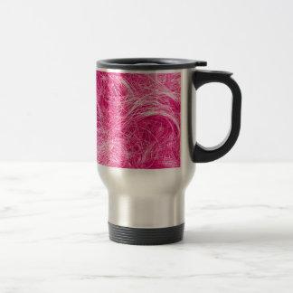 Pelo rosado rizado taza