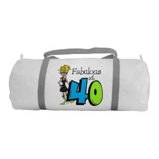 Pelo rubio fabuloso en el petate 40 bolsa de deporte