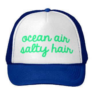 Pelo salado del aire del océano gorros
