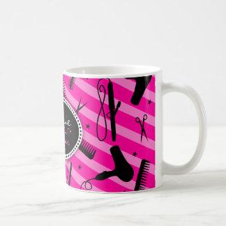 Pelo y belleza de las rosas fuertes taza de café