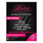 Pelo y monograma del artista de maquillaje tarjetas publicitarias