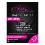 Pelo y monograma del artista de maquillaje promoci tarjeta publicitaria