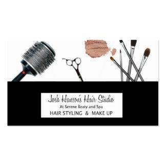 Pelo y tarjeta de visita del maquillaje