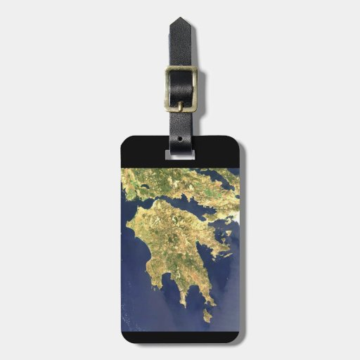 peloponnese greece satellite map - black bag tags