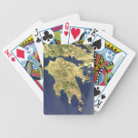 peloponnese greece satellite map bicycle poker deck