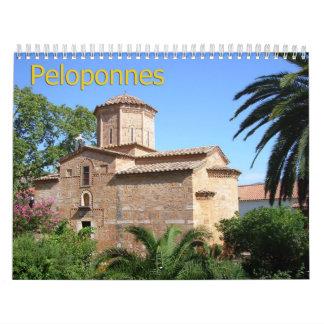 PELOPONNESUS calendario de pared de Grecia 2013