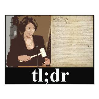"""Pelosi-Constitución: tl; el Dr. Invitación 4.25"""" X 5.5"""""""