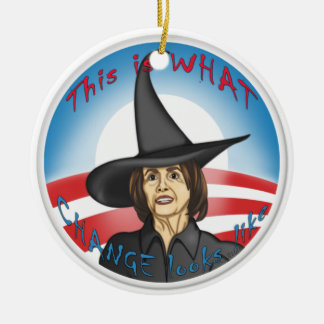 Pelosi: Looks like Change Ceramic Ornament