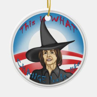 Pelosi: Looks like Change Ceramic Ornament