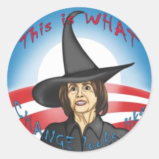 Pelosi: Looks like Change Sticker