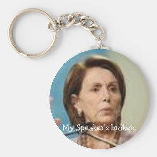 Pelosi-My Speaker's broken. Basic Round Button Keychain