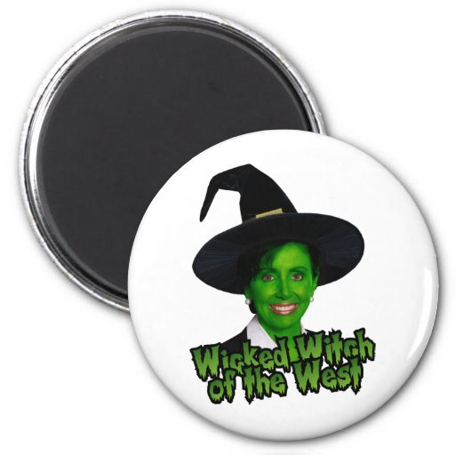 Pelosi: Wicked Witch of the West 2 Inch Round Magnet
